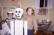 me with skeleton somewhere around 1970 in Greeley, Colorado